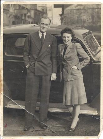 Gerald and Joan Weegenaar, 1940s