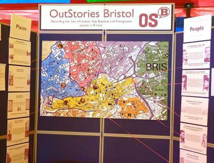 OutStories Bristol display stand at Pride Bristol 2011