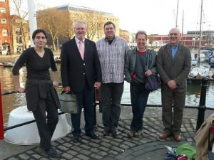 Rictor Norton visiting Bristol Harbourside