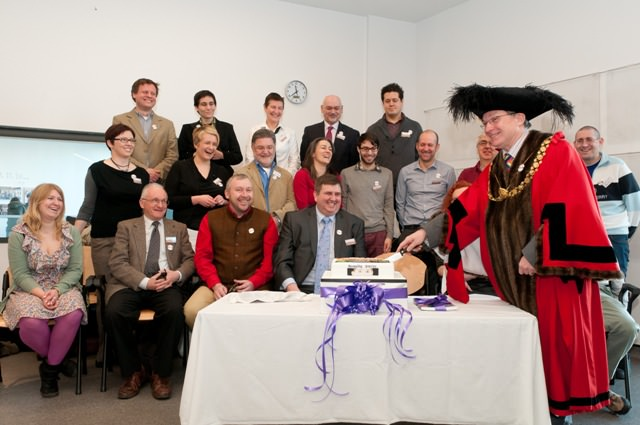Peter Main. Lord Mayor of  Bristol and the principal project team