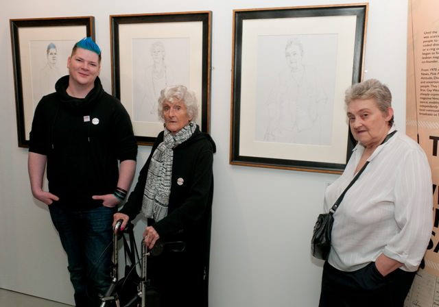 Daryn Carter, Peggy Hancock and Dale Wakefield.  Portraits by Malcolm Ashman.