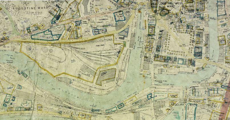 Bristol map 1949