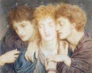'The Sleepers, and the One that Watcheth' by Simeon Solomon