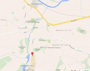Map to Bath Spa University