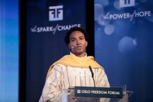 Thomas Glave speaking at Oslo Freedom Forum