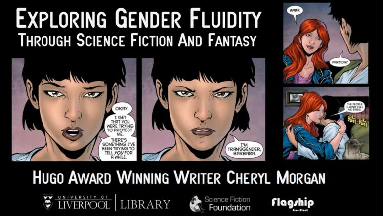 Exploring Gender Fluidity through Science Fiction and Fantasy - opening slide