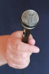 Photo of handheld microphone