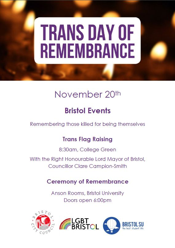 Trans Day of Remembrance 2015 leaflet