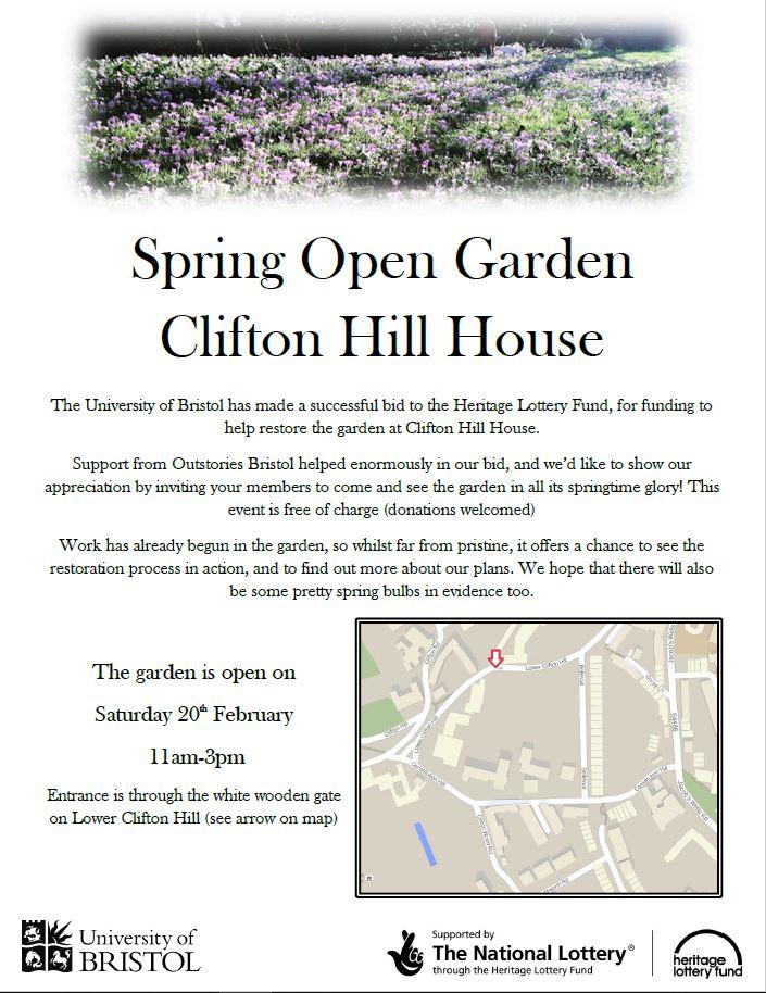 Spring Open Garden flyer