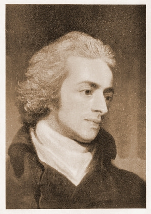 An engraved portrait of William Beckford as a young man