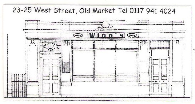 Line drawing of facade of Winn's Club